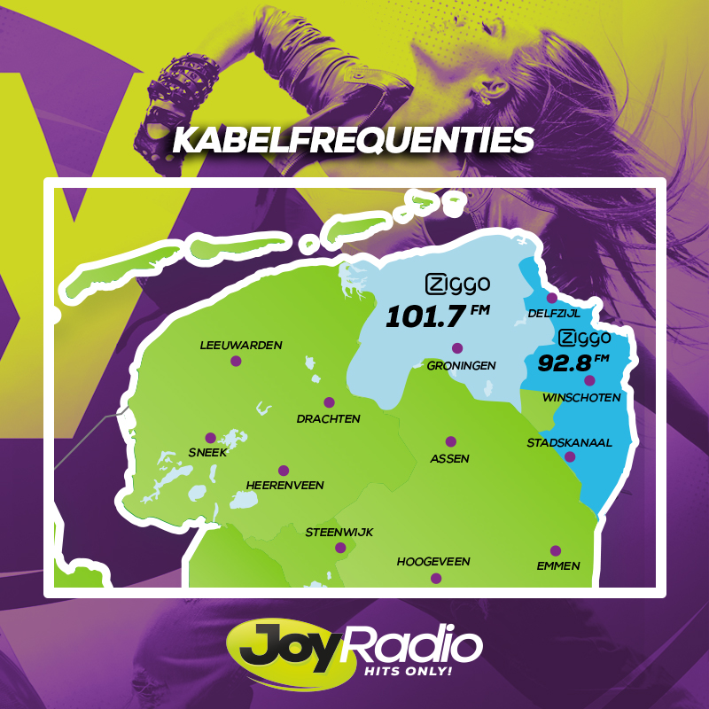 Kabelfrequenties Joy Radio